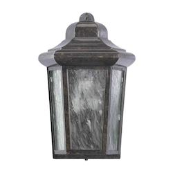 Quorum One Light Baltic Granite Water Glass Outdoor Flush Mount