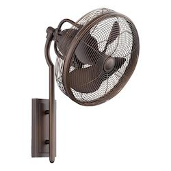 Quorum Oiled Bronze Wall Fan