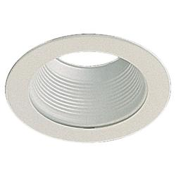 Quorum One Light White Recessed Lighting Trim
