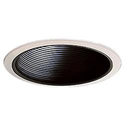 Quorum One Light Gloss Black Recessed Lighting Trim
