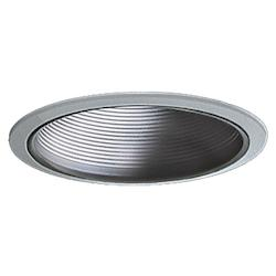Quorum One Light Brushed Steel Recessed Lighting Trim