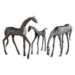 Cyan Designs Bronze 21.25in. Walking Horse Sculpture