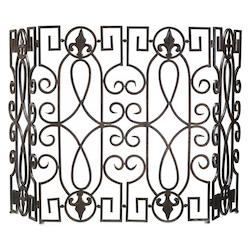 Cyan Designs Rustic Iron 31in. Wrought Iron Fire Screen
