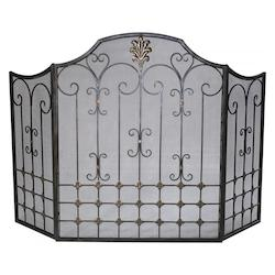 Cyan Designs Bronze with Gold Accents 32.25in. Bronze Fire Screen