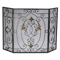Cyan Designs Rust with Gold Accents 32.25in. French Fire Screen