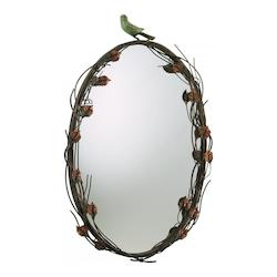 Cyan Designs Muted Rust 27In. Bird Mirror