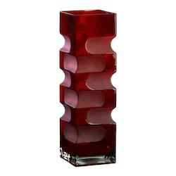 Cyan Designs Red 15in. Large Ruby Etched Vase