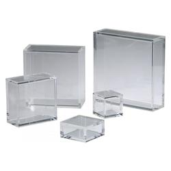 Cyan Designs Clear 3.25in. 10X10 Square Acrylic Pedestal