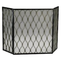Cyan Designs Mystic Gold 29.5in. Gold Mesh Fire Screen
