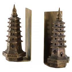 Cyan Designs Gold Leaf 10in. Pagoda Bookends