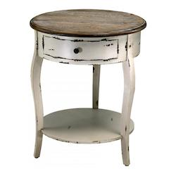 Cyan Designs Distressed White and Gray 24.5in. Abelard Side Table