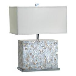 Cyan Designs White and Polished Chrome 25in. from the Lighting Collection