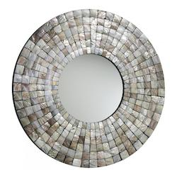 Cyan Designs Capiz Shell Mosaic Tile Mirror