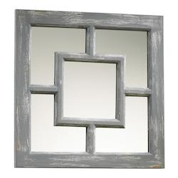 Cyan Designs Distressed Gray Ashbury Rectangular Mirror