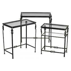 Cyan Designs Rustic Iron Dupont Occasional Nesting Tables