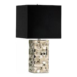 Cyan Designs Silver 1 Light Down Lighting Table Lamp from the Java Collection
