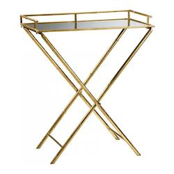 Cyan Designs Gold Leaf 16in. Bamboo Tray Table