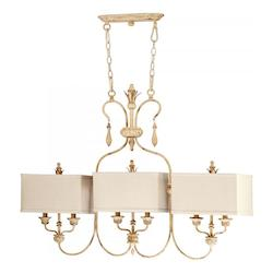 Cyan Designs Persian White Maison 6 Light 1 Tier Chandelier