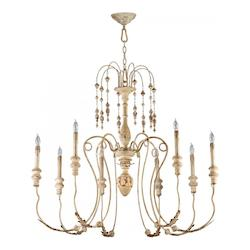 Cyan Designs Persian White 8 Light Up Lighting Chandelier from the Maison Collection