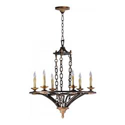 Cyan Designs Oiled Bronze San Giorgio 6 Light 1 Tier Chandelier