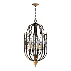 Cyan Designs Oiled Bronze San Giorgio 8 Light Full Size Pendant