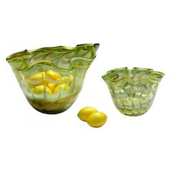 Cyan Designs Green / Yellow 12.5in. Medium Francisco Bowl