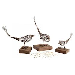 Cyan Designs Rustic 9.25in. Medium Birdy Sculpture