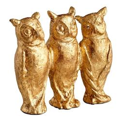 Cyan Designs Gold Leaf 4in. Three Who Sculpture