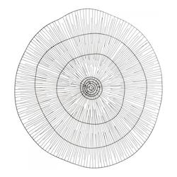 Cyan Designs Graphite Soloo Circular Wall Art