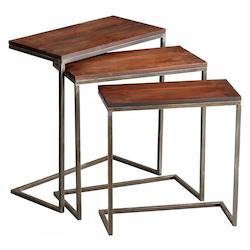 Cyan Designs Walnut and Graphite Jules Nesting Tables