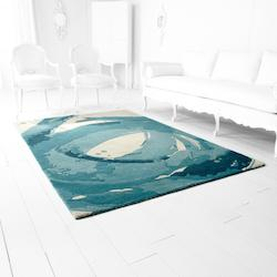 Cyan Designs Ivory And Blue Tumult 132In. X 85.2In. Rug