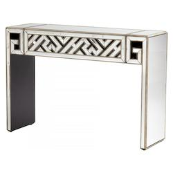 Cyan Designs Clear / Gold 36in. x 15.75in. Deco Divide Console