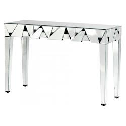 Cyan Designs Clear Shattered Obsession 53 Inch Long Mirrored Glass Console Table