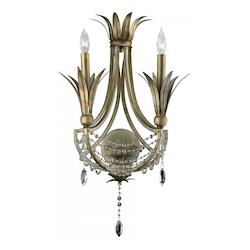 Cyan Designs St. Regis Bronze 24in. Two Lamp Wall Sconce from the Luciana Collection
