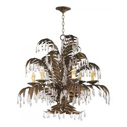 Cyan Designs Six Light Golden Antiqua Up Chandelier