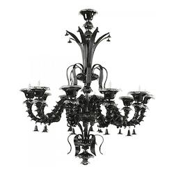 Cyan Designs Ten Light Black Murano Glass Up Chandelier