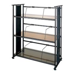 Dainolite Bronze Glass Bookshelf / Obb