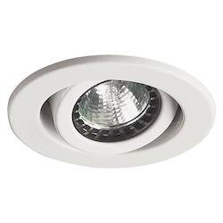 Dainolite One Light White Directional Recessed Light