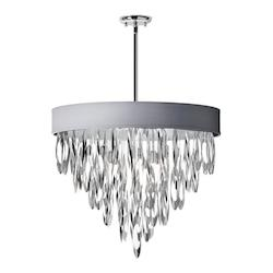 Dainolite Allegro Polished Chrome 8 Light Chandelier With Silver Shade