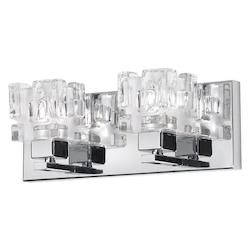 Dainolite Polished Chrome 2 Light Ada Compliant Vanity Light