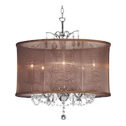 Dainolite Polished Chrome Vanessa 6 Light Chandelier