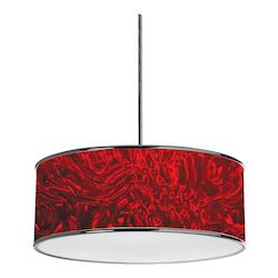 Dainolite Polished Chrome Ice 3 Light Pendant