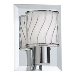 Dainolite Polished Chrome 1 Light Bathroom Sconce