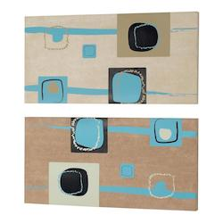 Dainolite 2 Pce Set Square Prints On Suede