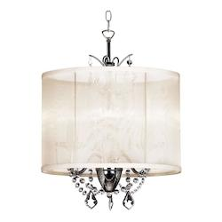 Dainolite Polished Chrome Vanessa 3 Light Chandelier