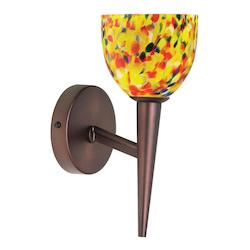 Dainolite Oil Brushed Bronze 1 Light Wallchiere