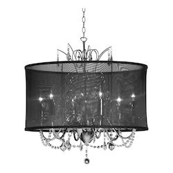 Dainolite Polished Chrome Vanessa 5 Light Chandelier