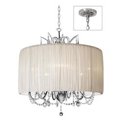 Dainolite Polished Chrome Victoria 6 Light Chandelier
