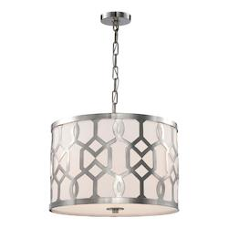 Crystorama Libby Langdon For  Jennings 3 Light Polished Nickel Pendant