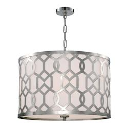 Crystorama Libby Langdon For  Jennings 5 Light Polished Nickel Pendant